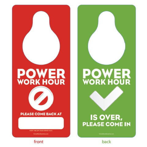 Power Hour Door Hanger