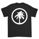 Hot Creations logo<br>Black tee