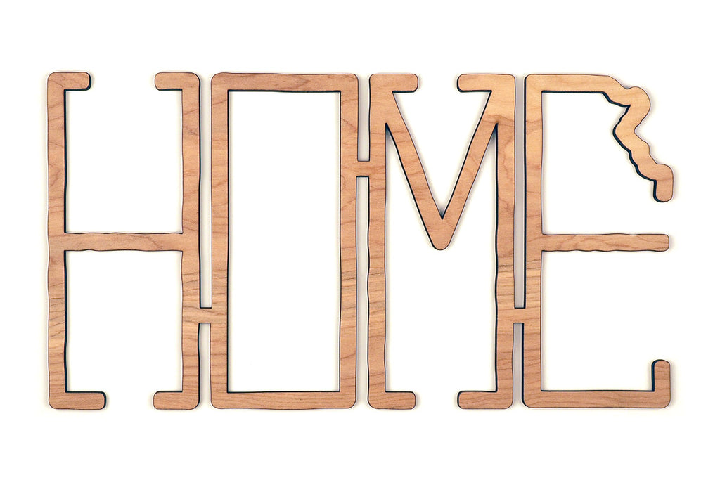 Wood Kansas Home Sign