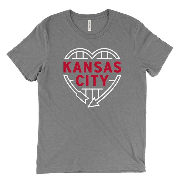 Kansas City Heart Sign Tee (Grey)