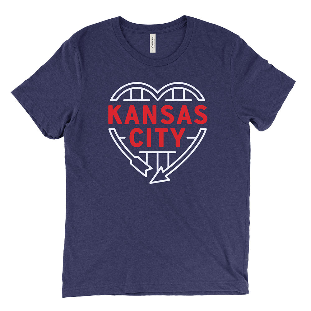 Kansas City Heart Sign Tee (Navy)
