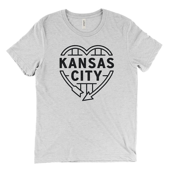 Kansas City Heart Sign Tee (White Fleck)