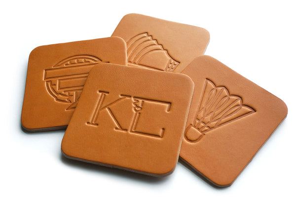 Kansas City Landmark Coaster Set (Leather)