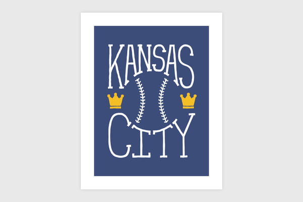 Kansas City Sports – Baseball Print