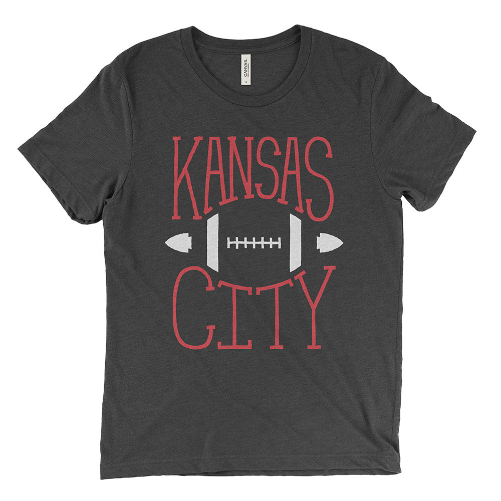 Kansas City – Football Tee (Charcoal Black)