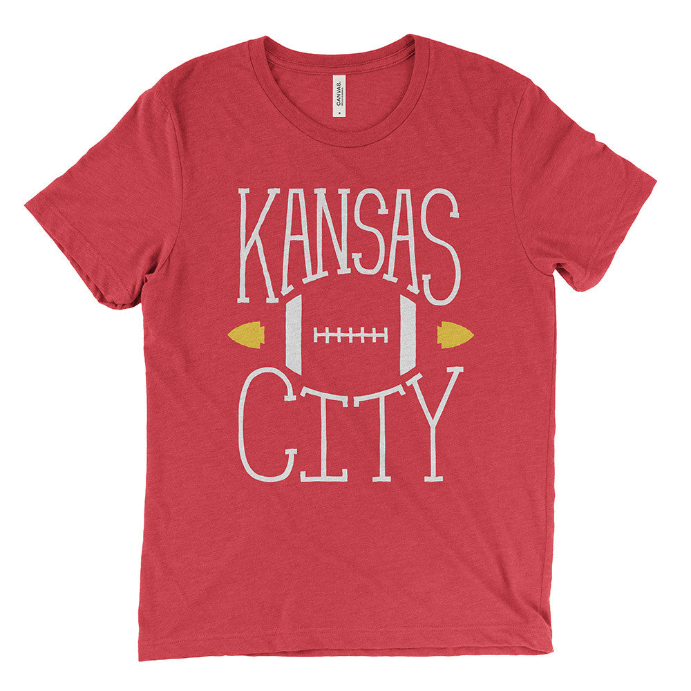 Kansas City – Football Tee (Red)