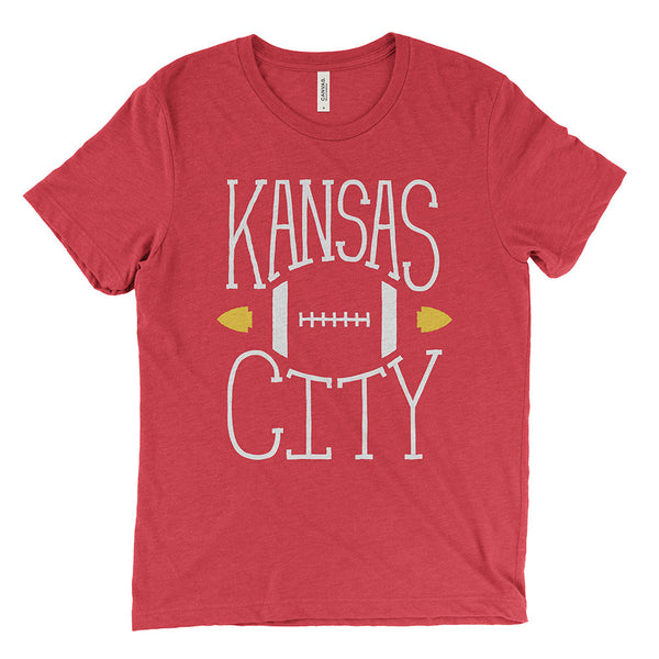 Kansas City – Football Tee (Heather Red)