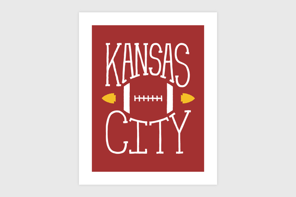 Kansas City Sports – Football Print