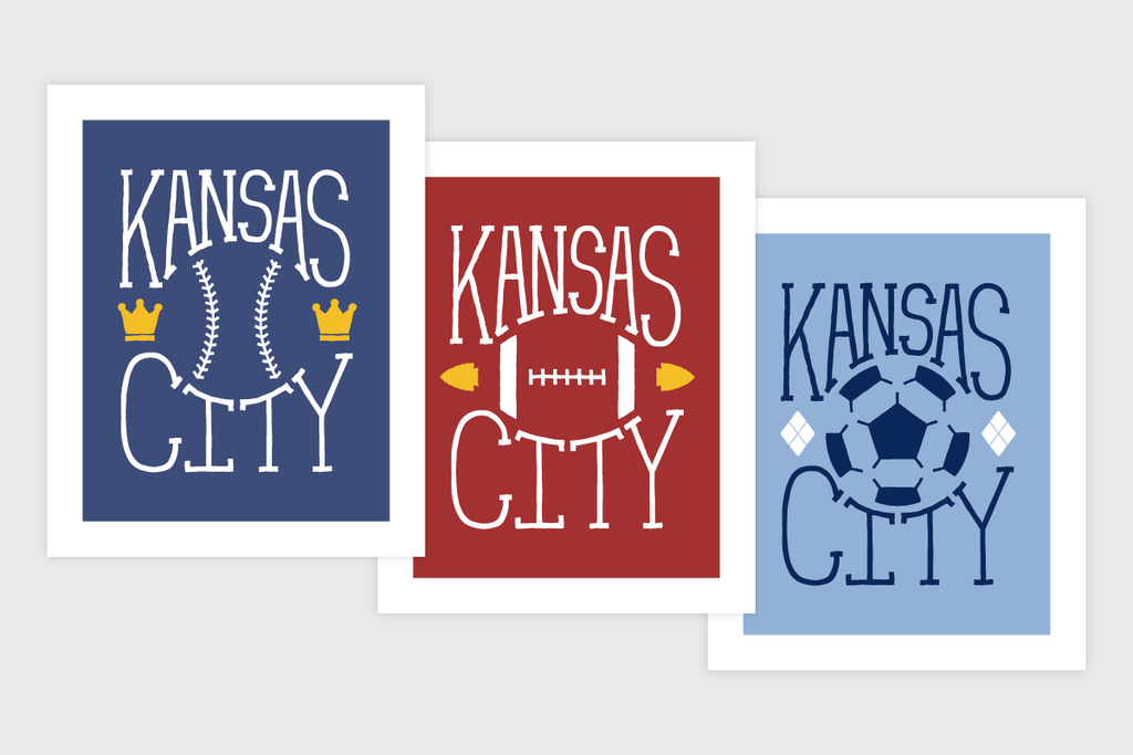 Kansas City Sports – Set of 3 Prints