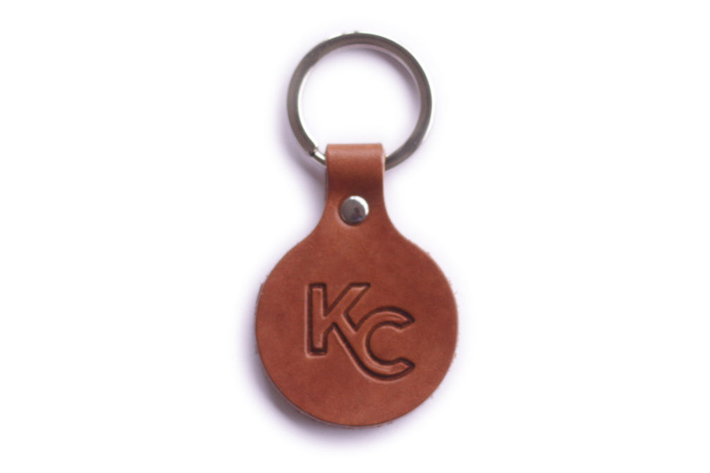 Monogram KC Leather Key Fob