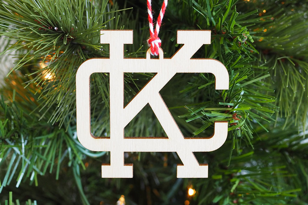 Monogram KC Ornament