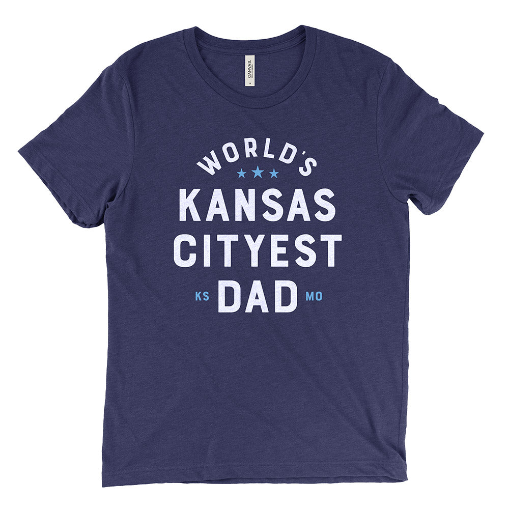 World's Kansas Cityest Dad Tee (Navy)