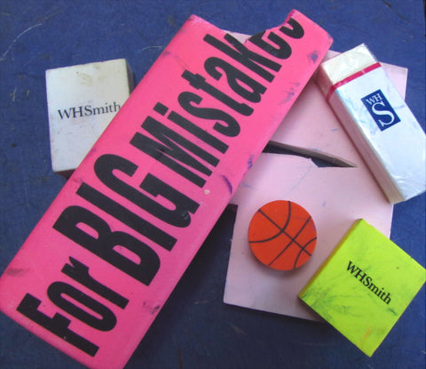 A wide selection of erasers