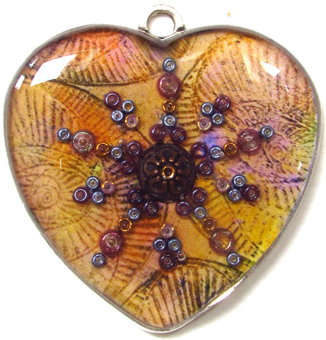 Saffron - pendant and necklace