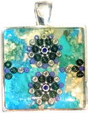 Marine - silver plated pendant and necklace