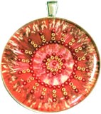 Papaver - silver plated pendant and necklace