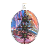 Bindi - silver plated pendant and necklace