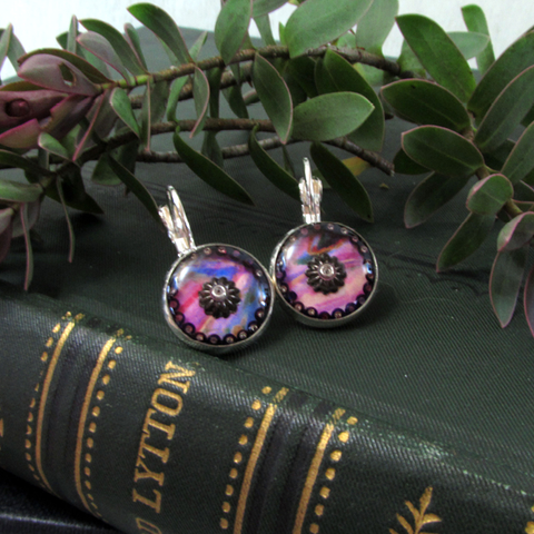 Blush - silver plated earrings