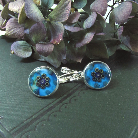 Charm - silver plated earrings