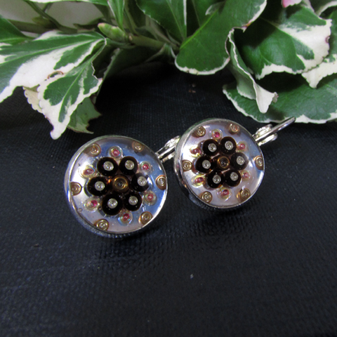 Chirrup - silver plated earrings