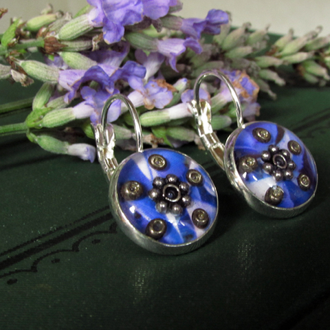 Cloud - silver plated earrings