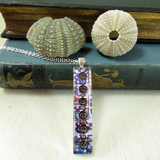 Echinus - silver plated pendant and necklace