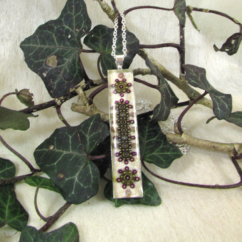 Filigree - silver plated pendant and necklace