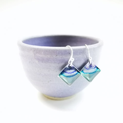 Pinnacle - sterling silver earrings