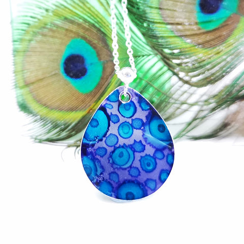 Heavenly - Inky teardrop pendant