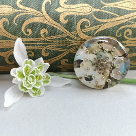 Harmony - silver plated brooch