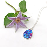 Cassiope - silver plated pendant and necklace
