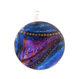 Indigo - silver plated pendant and necklace