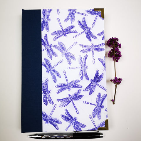 Handbound journal / notebook / diary - Dragonfly design