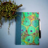 Handbound journal / notebook / diary / bullet journal - Chinese Lantern seed head design