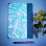 Handbound journal / notebook / diary / Sycamore seed design