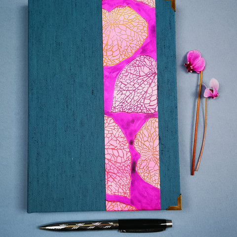 Handbound journal / notebook / diary / Begonia leaf design