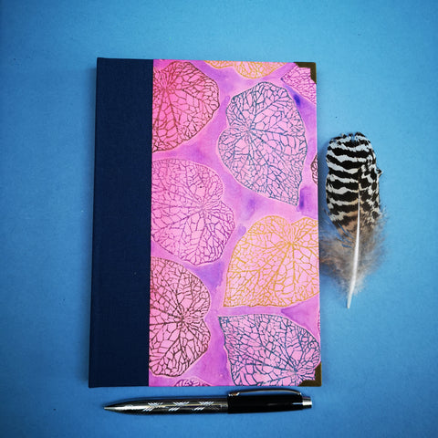 Handbound journal / notebook / diary / bullet journal - Begonia leaf design