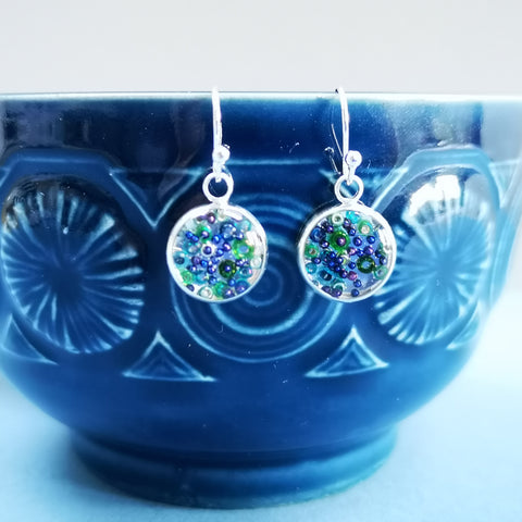 Beloved - silver plated earrings