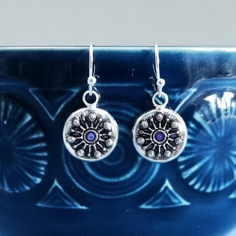 Marvel - silver plated earrings