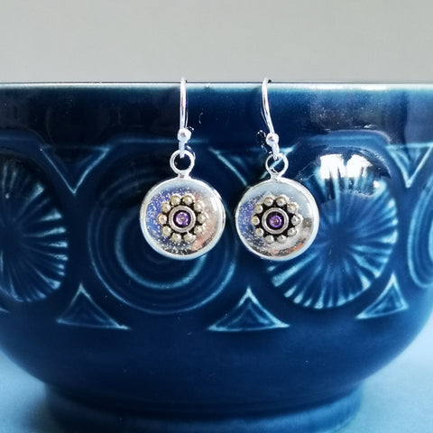 Glory - silver plated earrings