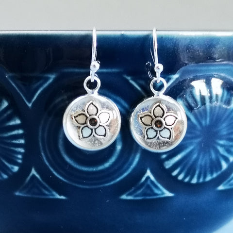 Faith - silver plated earrings