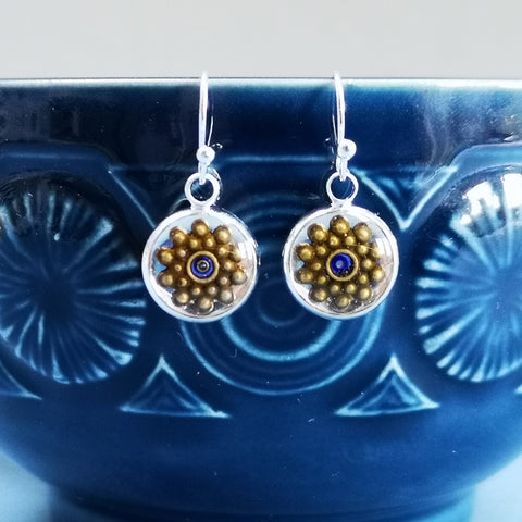 Visage - silver plated earrings