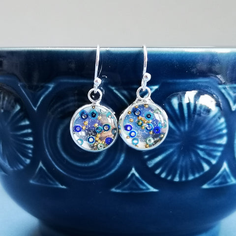 Cosmos - silver plated earrings