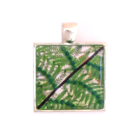 Palm - silver plated pendant and necklace