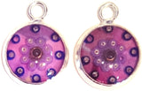 Plum - silver plated earrings