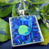 Spicule - silver plated pendant and necklace