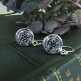 Throstle - silver plated earrings