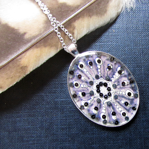 Tranquility - silver plated pendant and necklace