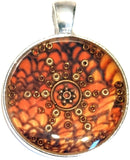 Amber - silver plated pendant and necklace