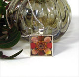 Autumn - silver plated necklace
